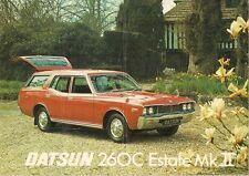 Datsun Nissan 260C MkII Estate 1976-77 UK Market Sales Brochure Cedric