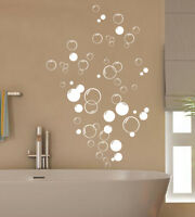 90 Bubbles Bathroom Vinyl wall stickers, Shower Door, Home DIY Wall Art Decal