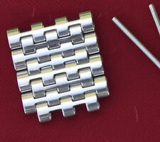 Vintage NSA band beads links 4 spare links smooth polished finish New Old Stock