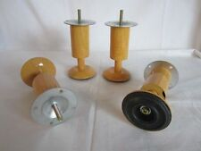 4x Möbelfüsse Metall, gr. Fuss: Erle - Holz / Erle rund - Höhe 14 cm, M8