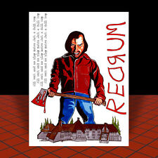 "The Shining artist signed ""Redrum"" horror prop Poster Art Jack Nicholson movie"