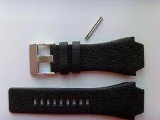 DIESEL Original Ersatzband Lederband Lederarmband DZ1266 Uhrband schwarz 24 mm
