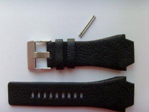Diesel Original Spare Band Leather Wrist Band DZ1266 Watch Band Black 24 MM