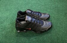 Nike Shox NZ Men's Black Varsity Red Running Training Shoe Sz 12 378341-017 AJ9