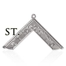 Freemasonry Officer Collar Jewel Masonic Worshipful Master Silver Square Pendant