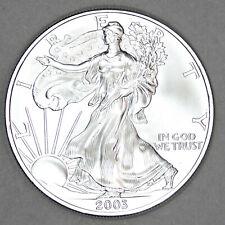 2003 UNCIRCULATED AMERICAN SILVER EAGLE, 1oz 0.999 FINE SILVER (03)