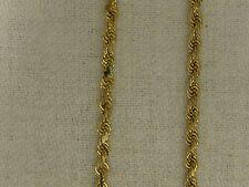 "14KT YELLOW GOLD 2.5 MM  Diamond Cut ROPE CHAIN-22""   #02-0023"