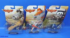 Mattel Disney Aviones 2 / Juego de 3 / Leadbottom, MARU , ' Pontoon Dusty