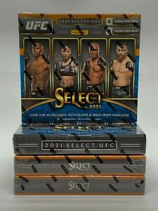 2021 Panini UFC Select H2 Hobby/Hybrid Lot. 4 Sealed H2 Boxes Unopened/New