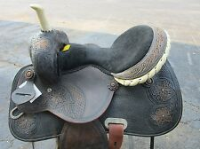 USED 16 BARREL RACING RACER TRAIL PLEASURE SHOW LEATHER HORSE WESTERN SADDLE