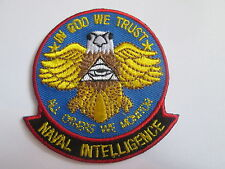 In God We Trust -Naval Inelligence Embroidered Patch - Iron or Sew on -P129