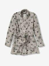 Victoria Secret PINK Gray And Navy Blue Cozy Robe Soft Plush Juniors Xs/S 🇺🇸
