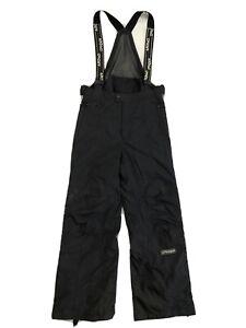 Spyder Entrant GII Mens Med Black Full Side Zip Bib Overall Ski Snowboard Pants