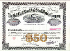 Belt Rail Road and Stock Yards Company IN 1949 Stock Certificate