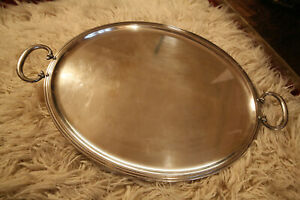 LARGE CHRISTOFLE SILVER PLATED TRAY