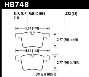 Hawk Performance HB748B.723 HPS 5.0 Disc Brake Pad