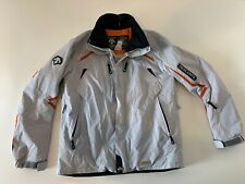 DESCENTE Men's TITAN THERMO Ski Jacket Gray Orange Size Large