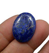 13.65 CT NATURAL BLUE LAPIS LAZULI GOLD FLAKES OVAL CABOCHON LOOSE GEMSTONE