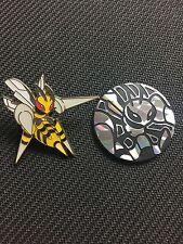 Pokemon Mega Beedrill EX Promo Collector PIN & COIN Combo NEW