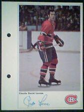 CLAUDE LAROSE  MONTREAL CANADIENS  71/72 TORONTO SUN 5-1/4 X 7 PHOTO CARD