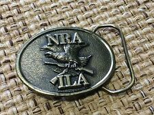 NRA ILA Belt Buckle American Eagle  on Crossed Rifles Made in USA