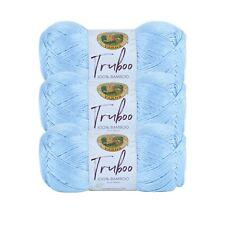 Lion Brand Yarn 837-105 Truboo Yarn, Light Blue (Pack of 3 skeins)