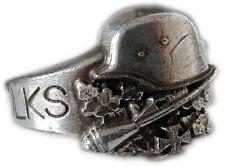 Mk-Art militaria anillo, alemán pueblo tormenta tanques puño