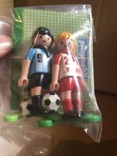 Playmobil Soccer Players With Balls And Extras