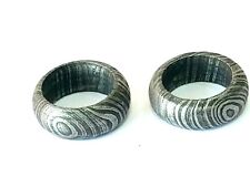 Damascus Steel Handmade ring style pendant  lot of two