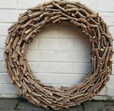 LARGE Twig rustic Wreath 60 cms.Tea tree wood.
