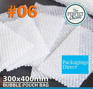 800x Bubble Wrap Bag 300 x 400mm Clear Bubble Pouch Bags #06