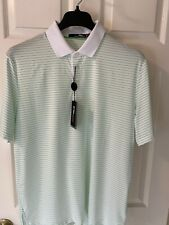 RLX Ralph Lauren Biltmore Golf Shirt Large Green Stripe