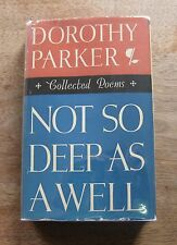 NOT SO DEEP AS A WELL poems by Dorothy Parker  -1st/1st -HCDJ 1936 - $2.50 - VG+