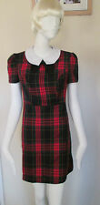 ATMOSPHERE - RED CHECK MINI DRESS POLYESTER BLEND SIZE 10