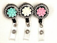 LANYARD BADGE REEL FLOWER DESIGN RETRACTABLE REEL (NEW)