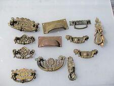 Antique Brass Drawer Handles Pulls Hardware Old Victorian Nouveau Vintage Old