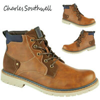 Mens High Ankle Lace Up Casual Combat Biker Boots Shoes Sizes UK 7 8 9 10 11 12