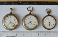 3-lot Swiss Antique Pocket Watch BUREN - Burlington (Gallet) - French for parts