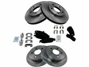 Front and Rear Brake Pad and Rotor Kit For Oldsmobile Alero Grand Am SN39N2