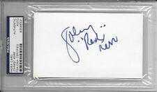 JOHNNY RED KERR Signed 3x5 Index CARD Chicago BULLS Announcer NBA Basketball PSA