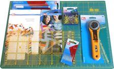 TAPPETO PRYM 90cmX60cm STARTER KIT PATCHWORK taglierino Rotante 45mm OLFA quilt