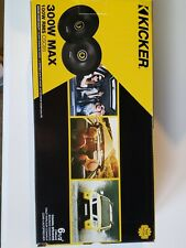 Kicker 46Csc654 6.5 inch Car Audio Speaker with Woofers - Black