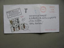 FRANCE, cover 1984, postage due insect beetle 3,30