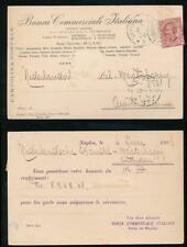 ITALY 1924 PERFIN BCI on 10c POSTCARD to HOLLAND