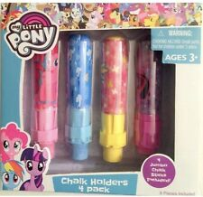 My Little Pony Chalk Holder And Chalk 4 pack Hasbro Toys New Unopened Ages 3+