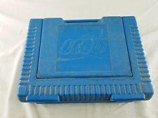 Vintage 1984 LEGO Blue Plastic Storage Carrying Case Box Bin