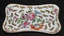 Limoges France Murmac, Decorative Roses & Gold Pin or Trinket Tray or Dish