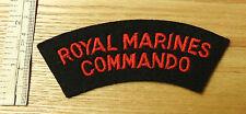 An Original Military Royal Marines Commando Cloth Shoulder Title Badge (3958)