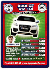 Audi Q7 V12 TDI #278 Top Gear Turbo Challenge Trade Card (C362)