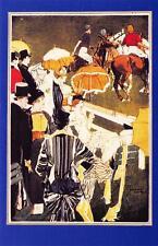 Postcard Nostalgia 1890's Fashion Polo at Ranelagh Reproduction Card